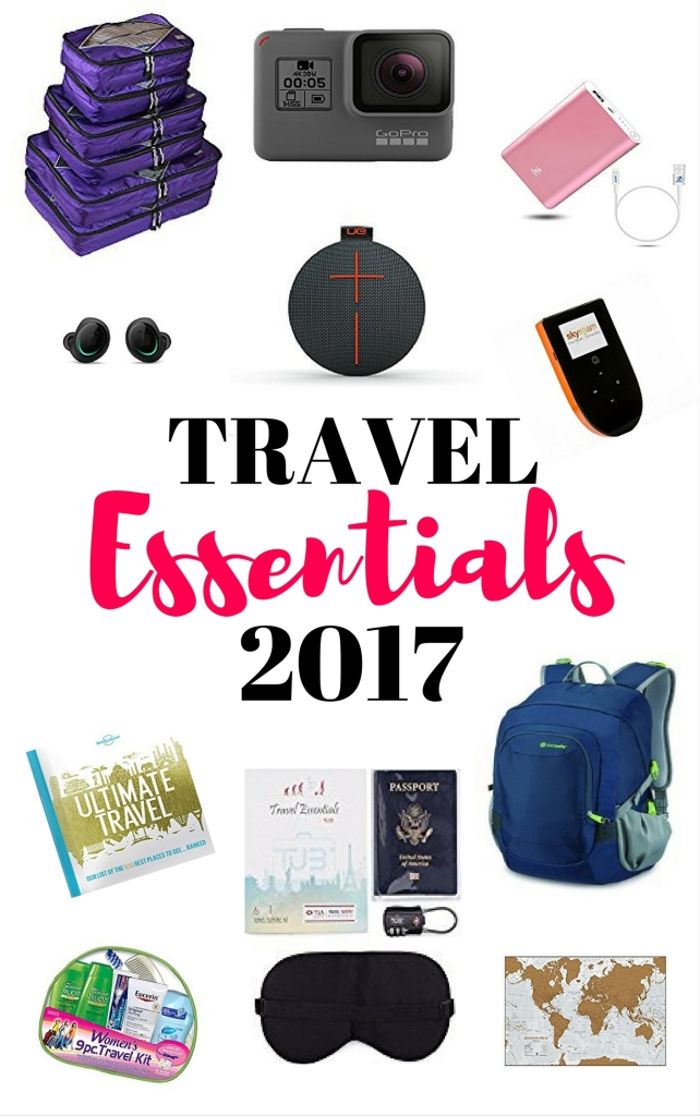 A list of travel items to use in 2017