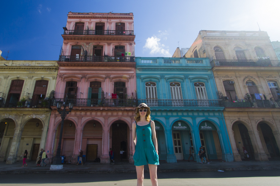 In front of Paseo de Marti, Old Havana, Cuba