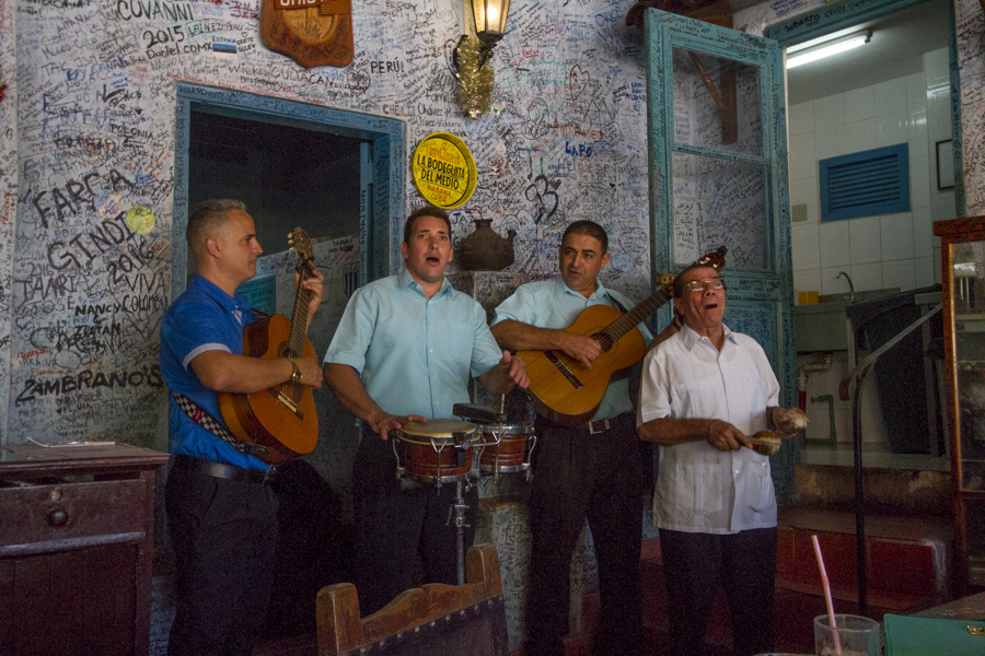Musicians playing in Bodeguita del medio, Old Havana Cuba