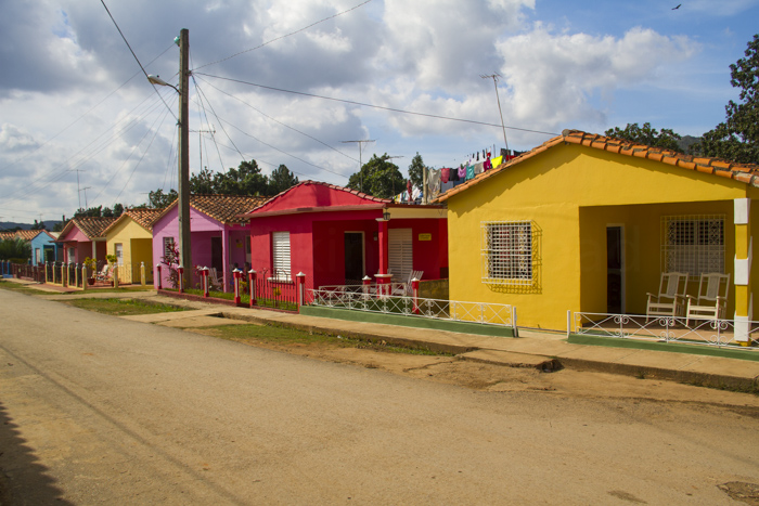 Colourful houses, Casa Particulares of Viñales, Cuba