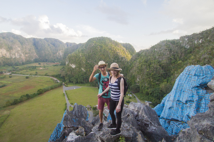 Standing on top of Mural De La Prehistoria, Viñales, Cuba