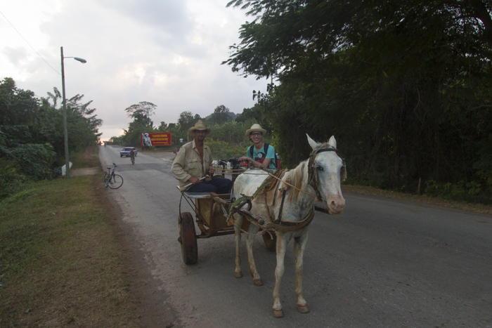 Horse carriage in Viñales, Cuba