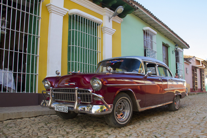 classic old car in Trinidad, Cuba