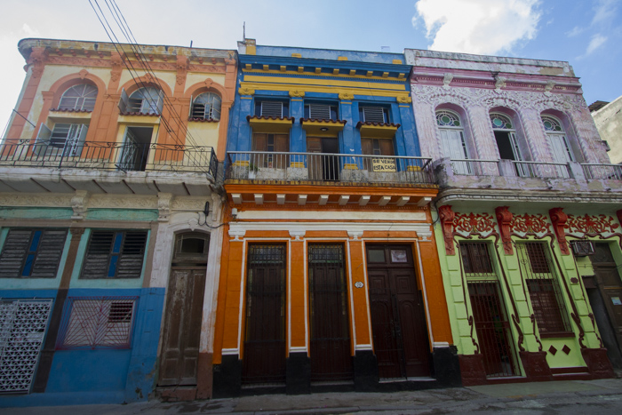 Colorful buildings in Habana Vieja, Cuba