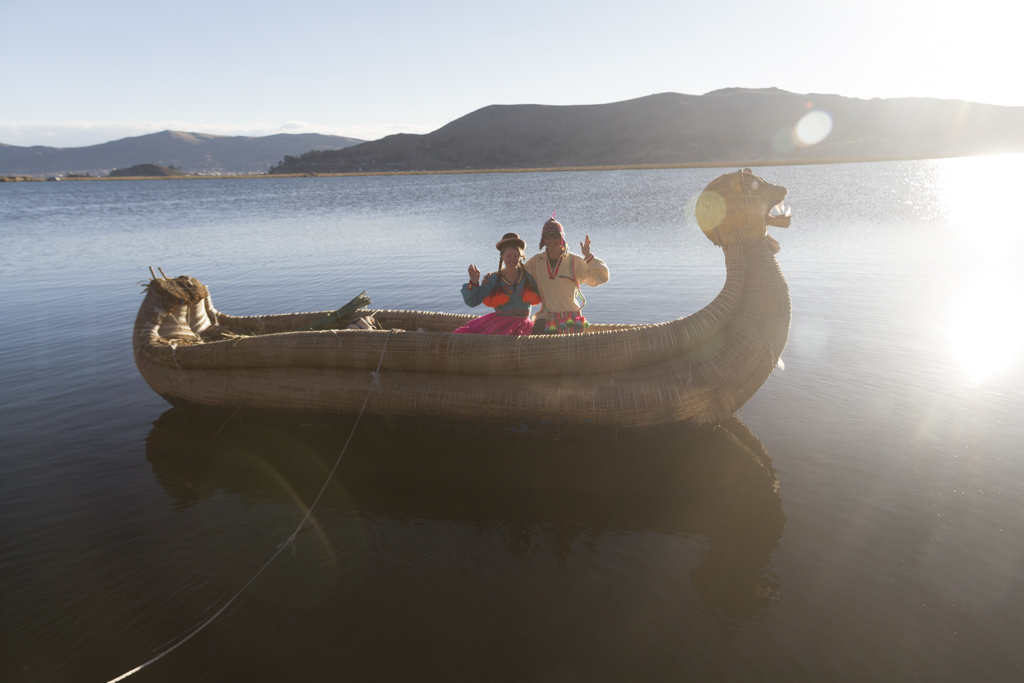 Staying a Night at Khantati Island on Uros Floating Island in Titicaca, Peru