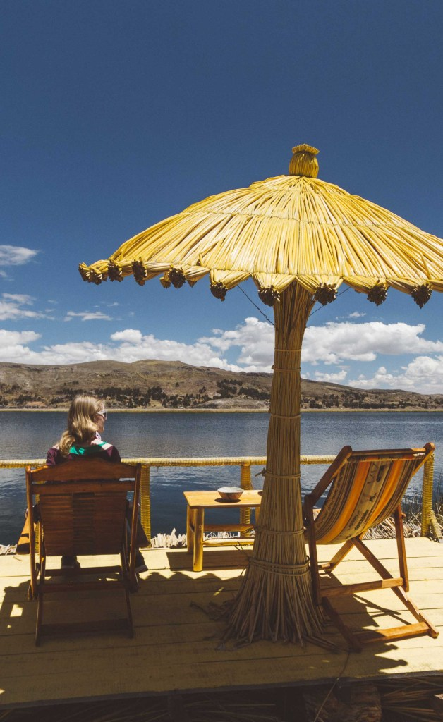 Staying at Khantati Floating Island in Titicaca, Peru